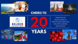 20 Years of Reloc8 Asia-Pacific Group: Tradition of Excellence in Destination Services Delivery across Asia-Pacific