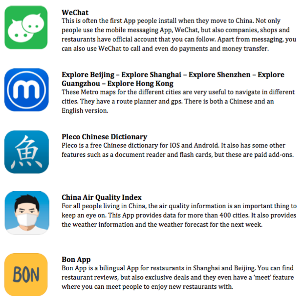 China Smartphone Apps